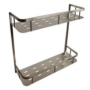 HZZymj-The bathroom brushed stainless steel double wall rack