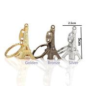 Himollthe Cute Adornment 3d Eiffel Tower French Souvenir Ptheris Keychthein Keyring Bratze Silver Golden