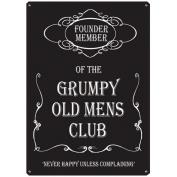 Grumpy Old Men Metal Wall Sign (40cm)