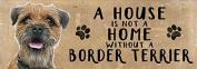 Wooden Sign (15 x 45cm Plaque) - Border Terrier