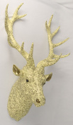 Stag Deer Head Wall Hanging 86cm Yellow/Gold Printed Resin Sculpture