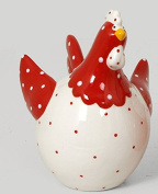 FRENCH DECORATIVE CERAMIC CHICKEN petra dodue body white 8289 A