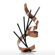Tooarts Table Sculpture Modern Sculpture Statue Straight Line and Ribbon Metal Sculpture Iron Abstract Sculpture Home ornaments