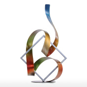 Tooarts Square Ribbon Abstract Sculpture Modern Sculpture Ornaments for Home Office Living Room Indoor-Outdoor Decor