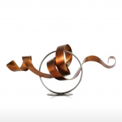 Tooarts Wriggle Abstract Sculpture Modern Sculpture Statue Metal Sculpture Iron Art Decor Sculpture Ornaments