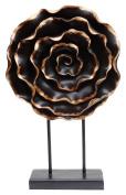 Burkina Home Decor Flower Black, Resin, Multicolour, 30 x 8 x 48 cm