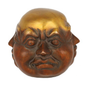 AapnoCraft Laughing, Brown, 10cm Four Face Happy Buddha