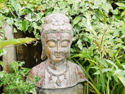 Large Thai Buddha Head Bust Garden Art Statue Sculpture Decorative Ornament 52cm