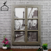 DZW Retro Old False Windows, Solid Wood Wall Decoration, Industrial Atmosphere, Suitable For Home, Bar, Coffee Shop And Other Industrial Wind Retro Decoration, 58 * 6 * 80cm