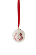 Hutschenreuther Merry Christmas Nordic Red Porcelain Ho Ball Diameter 8 cm, Porcelain, Red, 9 x 9 x 10 cm