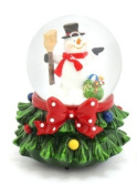 MUSICAL Christmas Snowman Snow Globe Ball Snow Storm Plays WE WISH YOU A MERRY XMAS