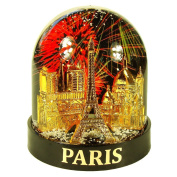 Souvenirs of France - Luxury Paris 'Fireworks' Snow Globe with Gift Case - Black