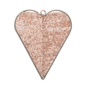 Magic Bead Solid Rose Gold 12cm Heart Hanging Decoration Wedding Christmas