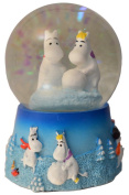 Moomin Moomintroll & Snorkmaiden Small Snowglobe Waterball Decoration - 45 mm