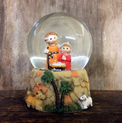 Mary Joseph and Baby Jesus Holy Nativity Snow Globe