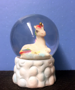 Glitter Rainbow Unicorn Snow Globe Waterball - Looking right