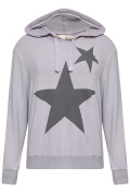 A Postcard From Brighton Women's Hoody Star Printed Hoody - Dim Grey