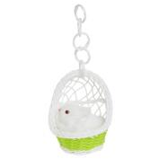 Albeey Animal Simulation Toy in Hanging Basket, Basket Random Colour