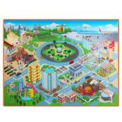Domybest Baby Kids Crawling Educational City Map Play Mat Waterproof Foldable Picnic Carpet 120x90x4cm