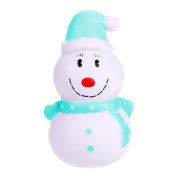 HUHU833 12cm Christmas Snowman Cream Scented Squishy Slow Rising Squeeze Toy