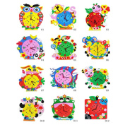 EVA Clock Cute Cartoon DIY Handmade Animal Shape Kids Baby Xmas Thanksgiving Birthday Gift Animal Random