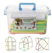 Intellectual Long Tube Building Blocks Assembled Blocks Early Childhood Education Children Early Childhood Education Creative Diy Toys