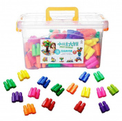 Toolbox Bullet Building Blocks Plastic Patching Wooden Pole Assembling Building Blocks Educational Toys