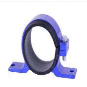 SUNDELY® 60mm Fuel Filter Bracket Mount Clamp Fits Bosch Pump Billet Aluminium Blue