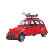 Art Deco Home - Wall Decoration Car 2CV Red 42 cm - 10415SG