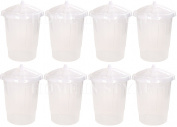 80L BPA FREE Clear Plastic Food Bin With Clip Locking Lid Flour,Rice,Grain,Corn,Cereal Storage Dispenser Container Ingredient Box Tub Bucket