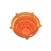 6pcs Universal Silicone Stretch Suction Pot Lids Kitchen Silicone Cover Orange