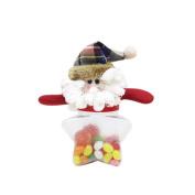 beiguoxia Cartoon Snowman Santa Deer Candy Bottle Plastic Box Container Xmas Party Decor