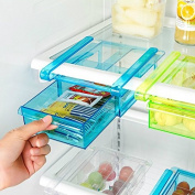 Drawihi DIY Fridge Food Storage Boxes Space Saver Freezer Fridge Drawer Storage Box Storage Box