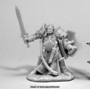 Reaper Miniatures REM77438 25mm Scale Jurden Half Orc Paladin - Bobby Jackson