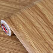 GFEI Wallpaper, wall stickers furniture wood paper wardrobe PVC self-adhesive wallpaper / refurbished imitation wood door stickers thickening (60cm*3m),L
