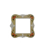 Beige Flower Fake Pearl Resin Hand Painting Light Switch Sticker Cover Protector