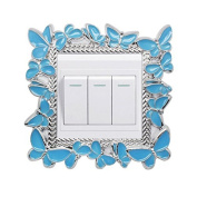 Albeey Square Luxurious Light Switch Stickers Cover Home Decoration Sticker