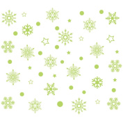 YanHoo Christmass Nowflake Luminous Removable Wall Window Stickers Art Decals Home Shop