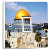 Golden Dome Temple Mount Aqsa Vinyl Skin Light Switch Cover Skin Sticker Decal by Inspired Walls®