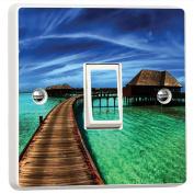 Heaven Resort 3D Vinyl Skin Light Switch Cover Skin Sticker Decal Decor Mural by Inspired Walls®