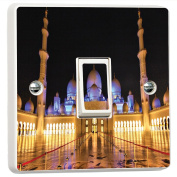 Sheikh Zayed Mosque 3D Vinyl Skin Light Switch Cover Skin Sticker Decal by Inspired Walls®