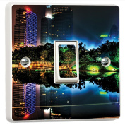 The Haze of Kuala 3D Vinyl Skin Light Switch Cover Skin Sticker Decal Mural by Inspired Walls®