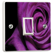 Purple Rose Flower Vibrant Light Switch Cover Skin Sticker Decal by Inspired Walls®