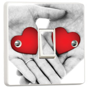 Hands with Love Holding Relationship Light Switch Cover Skin Sticker Decal by Inspired Walls®