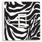Zebra Pattern Black & White Vinyl Skin Light Switch Cover Skin Sticker Decal by Inspired Walls®