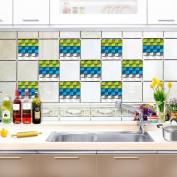 Kitchen Tile Stickers - Backsplash Protection | Self Adhesive Decorative Wall Tile Transfers for Bathroom Tiles Design | Decals for Home Decor | , 20*20cm*10pcs,CZT-0126 , 20*20cm10 tablets