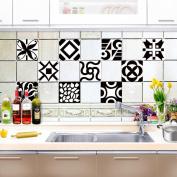 Kitchen Tile Stickers - Backsplash Protection | Self Adhesive Decorative Wall Tile Transfers for Bathroom Tiles Design | Decals for Home Decor | , 20*20cm*10pcs,CZT-0103 , 20*20cm10 tablets