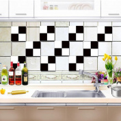 Kitchen Tile Stickers - Backsplash Protection | Self Adhesive Decorative Wall Tile Transfers for Bathroom Tiles Design | Decals for Home Decor | , 20*20cm*10pcs,CZT-0108 , 20*20cm10 tablets