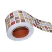 1M Mosaic Wall Stickers Bathroom Waterproof Backsplash Self Adhesive Baseboard