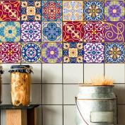 H Kitchen Tile Stickers - Backsplash Protection | Self Adhesive Decorative Wall Tile Transfers for Bathroom Tiles Design | Decals for Home Decor | , 20*100cm*5pcs,cz021 , 20*100cm*3pcs